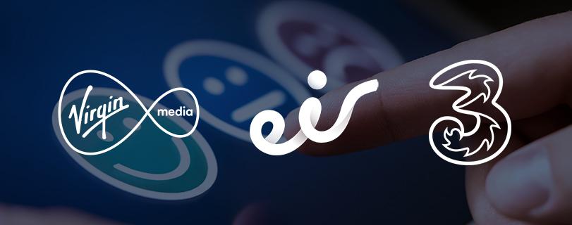 Image Customer service report: Three best in mobile, Virgin Media best in broadband, Eir last in both