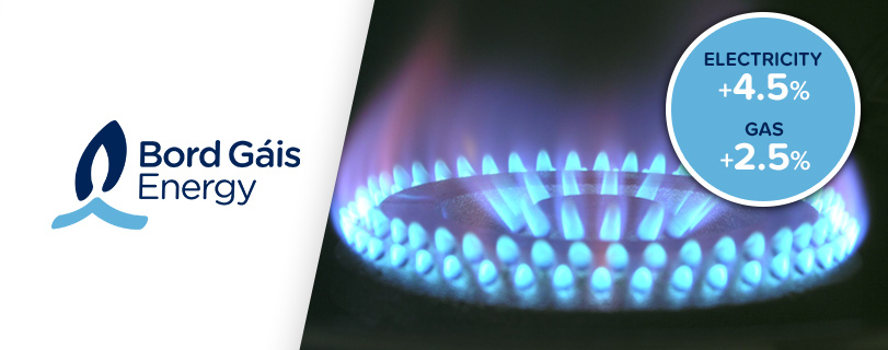 Image Bord Gáis to raise its prices for gas and electricity customers