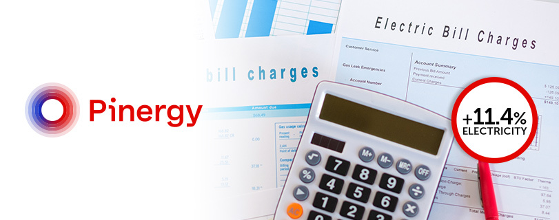 Image Pinergy announces third energy price increase of the year